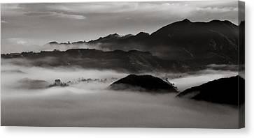 Fog In The Malibu Hills Canvas Print