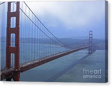 Fog Lifting Over The Golden Bridge  Canvas Print
