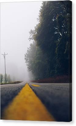Fog On Highway Canvas Print