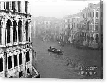 Fog On The Grand Canal Canvas Print by John Rizzuto