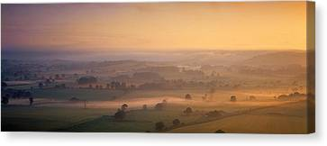 Fog Over A Landscape, Blackmore Vale Canvas Print by Panoramic Images