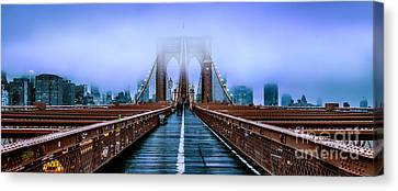 Fog Over The Brooklyn Canvas Print by Az Jackson