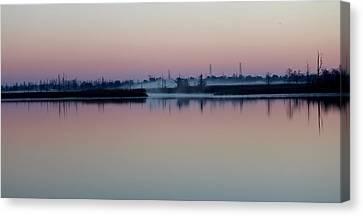 Fog Over The River Canvas Print by Cynthia Guinn