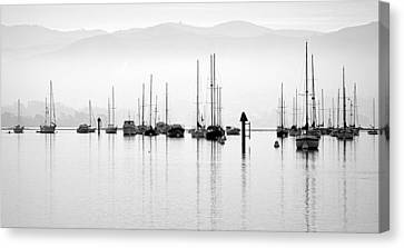 Fog Settles On Morro Bay Canvas Print