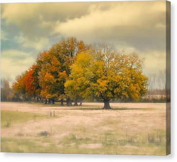 Foggy Autumn Morning - Fall Landscape Canvas Print by Jai Johnson