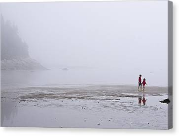 Foggy Beach Canvas Print by Arkady Kunysz