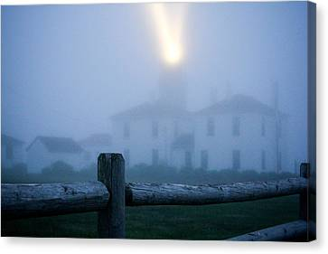 Canvas Print - Foggy Day At The Lighthouse by Allan Millora Photography