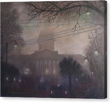 Foggy Dome Canvas Print