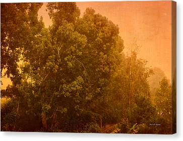Foggy Drizzly City Morning Canvas Print by Angela A Stanton
