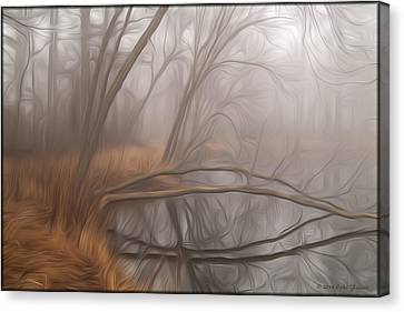 Foggy Fall Morning Canvas Print