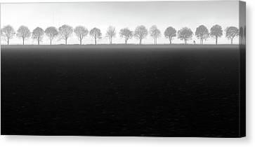 Foggy Flevopolder Canvas Print