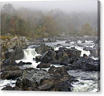 Foggy Great Falls Canvas Print