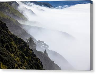 Sonoma Coast Canvas Print - Foggy Hillside by Garry Gay