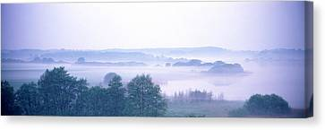 Foggy Landscape Northern Germany Canvas Print by Panoramic Images