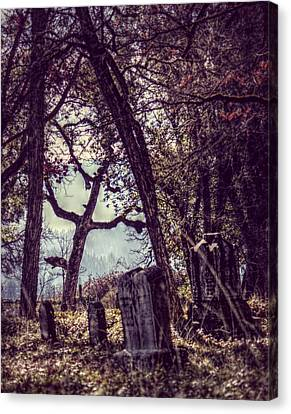 Canvas Print featuring the photograph Foggy Memories by Melanie Lankford Photography