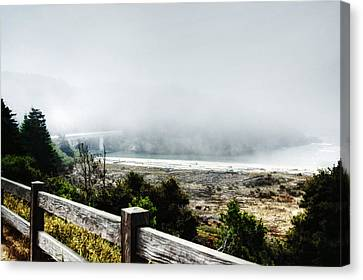 Foggy Mendocino Morning Canvas Print by Kandy Hurley