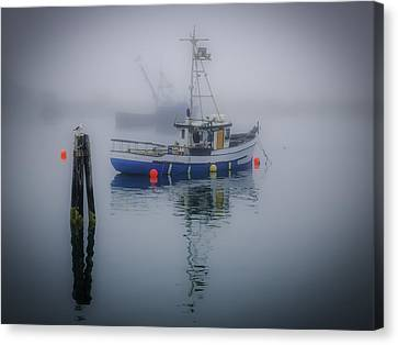 Foggy Morning At Rest Canvas Print
