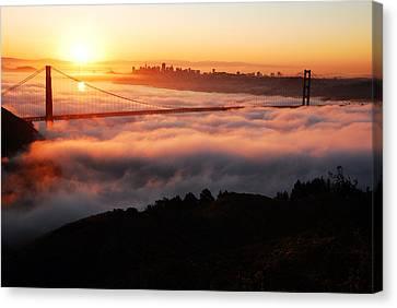 Foggy Morning San Francisco Canvas Print by James Kirkikis