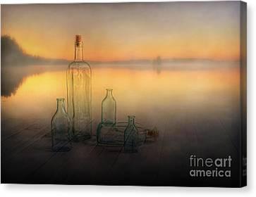 Foggy Morning Canvas Print by Veikko Suikkanen