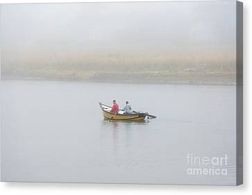 Foggy Nestucca Canvas Print by Mike  Dawson