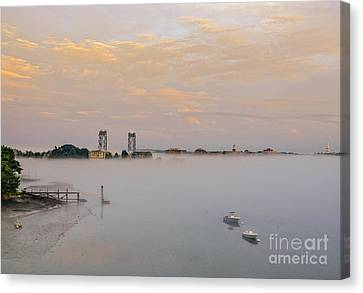 Foggy Portsmouth Canvas Print