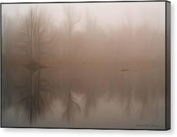 Foggy Reflection Canvas Print