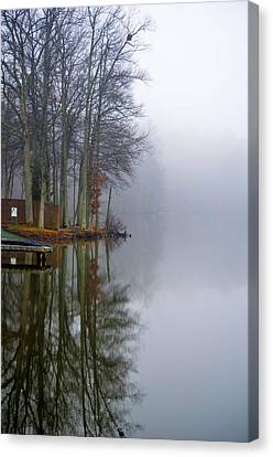 Foggy Reflection Canvas Print