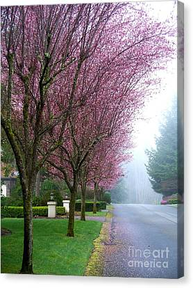 Foggy Road Canvas Print by Tanya  Searcy