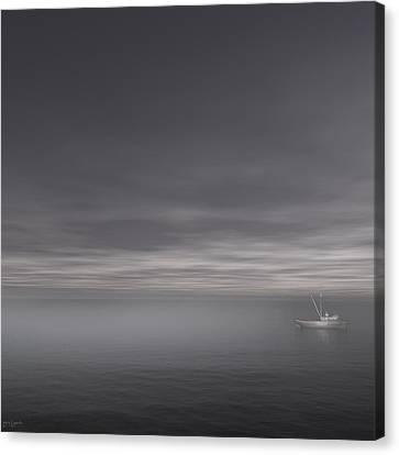 Foggy Stillness Canvas Print by Lourry Legarde