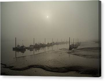 Canvas Print - Foggy Sunset On River Medway by Dawn OConnor