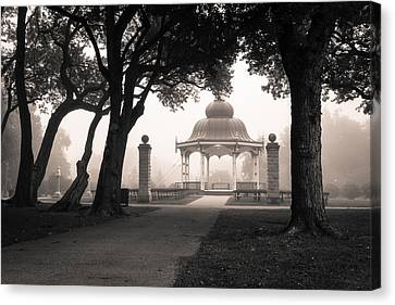 Foggy Tower Grove Canvas Print by Scott Rackers