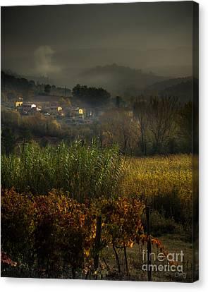 Foggy Tuscan Valley  Canvas Print
