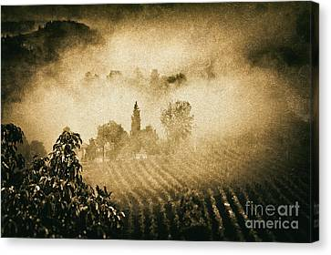 Canvas Print featuring the photograph Foggy Tuscany by Silvia Ganora