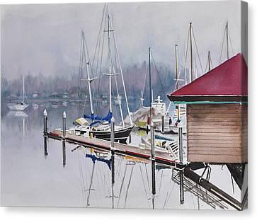 Foggy Dock Canvas Print
