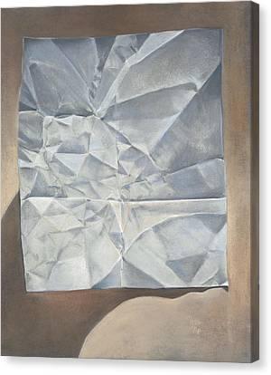 Folded Paper Canvas Print