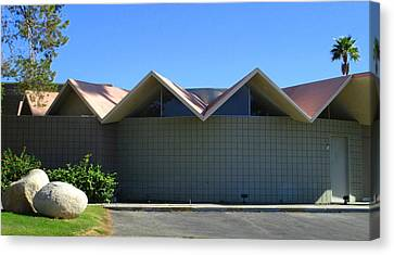 Overhang Canvas Print - Folded Plate Roof In The Round by Randall Weidner