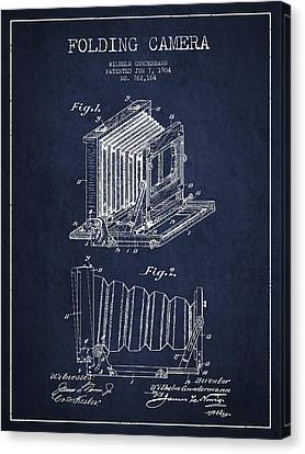 Folding Camera Patent Drawing From 1904 Canvas Print by Aged Pixel