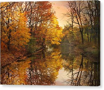 Canvas Print featuring the photograph Foliage Reflected by Jessica Jenney