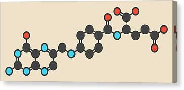 Vitamine Canvas Print - Folic Acid Molecule by Molekuul