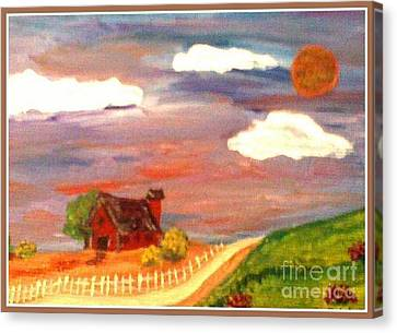 Canvas Print featuring the painting Folk Art by Bobbee Rickard