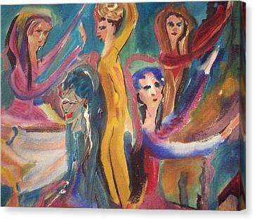 Folk Dance Canvas Print by Judith Desrosiers