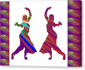 Canvas Print featuring the photograph Folk Dance Sparkle Graphic Decorations by Navin Joshi