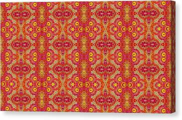 Folklore Design Pattern Canvas Print by Julia Fine Art And Photography