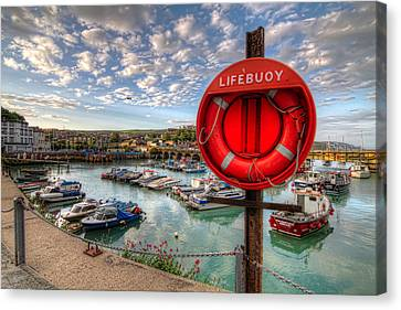 Canvas Print featuring the photograph Folkstone Harbour by Tim Stanley