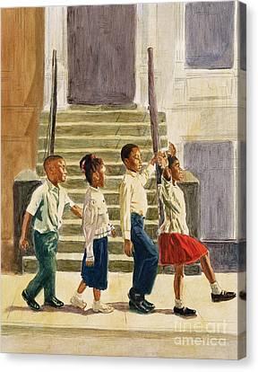 Black Artist Canvas Print - Follow Me by Colin Bootman
