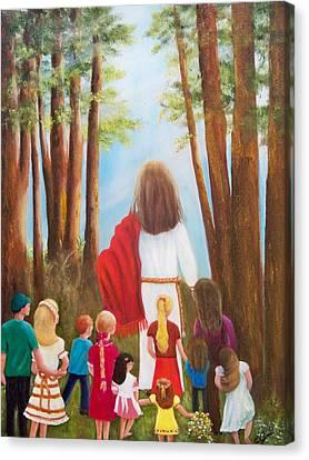 Jesus Canvas Print - Follow Me by Joni McPherson