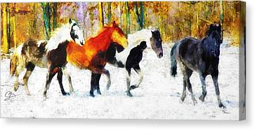 Follow The Leader Canvas Print by Greg Collins