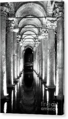 Sultanhmet Canvas Print - Follow The Lights by John Rizzuto