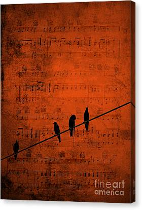 Follow The Music Canvas Print