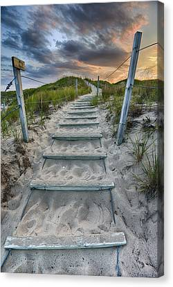 Canvas Print featuring the photograph Follow The Path by Sebastian Musial